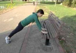 סרטון תרגילי בטן בעזרת ספסל בפארק
