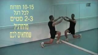 סרטון תרגילי רגליים מכרעים lunges