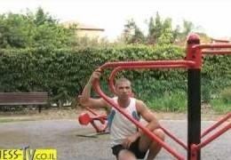סרטון תרגיל מקבילים במתקני הכושר בפארק